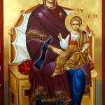 Богородица на трону