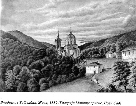 Vladislv Titelbax, Manastir Zica 1889
